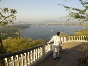 A view of Fateh Sagah Lake and my host father
